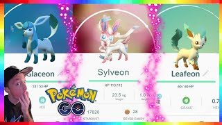 HOW TO GET SYLVEON - LEAFEON & GLACEON in Pokemon Go!