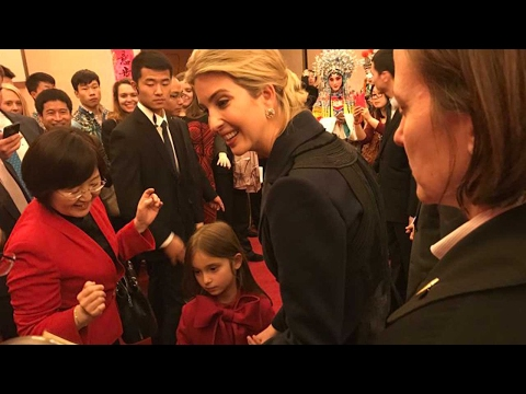 Ivanka Trump at DC's Chinese Embassy to celebrate Spring Festival with daughter Arabella