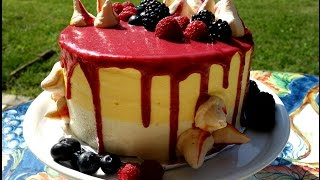 Frosting and Decorating a Raspberry Lemon Cake