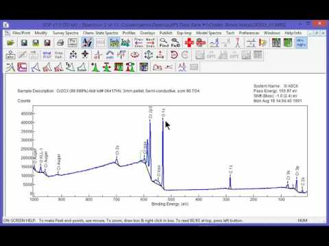 XPS Software - SDP v7 - Processing Wide Scan Survey Spectra - Movie 8/51
