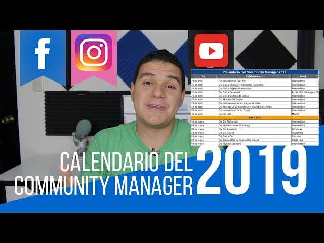 Calendario Communitty Manager 2019