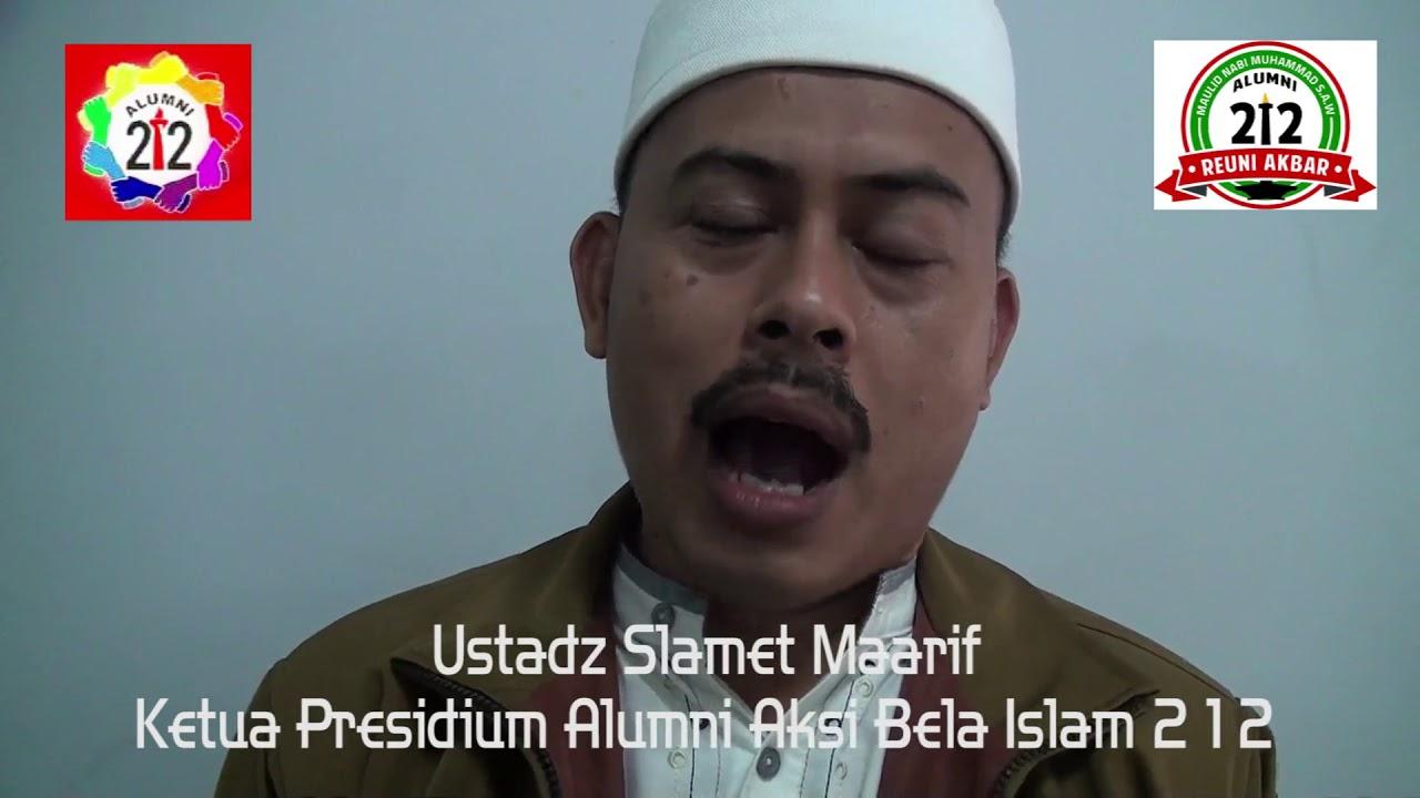 Slamet Maarif: Ustadz Slamet Maarif, Ketua Presidium Alumni Aksi Bela