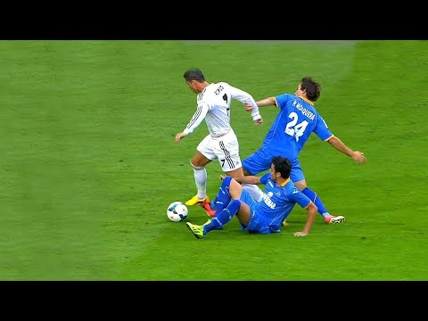 Cristiano Ronaldo Dropping Players Like Bowling Pins !!