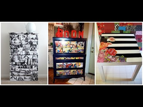 DIY Decoupage Furniture | Mod Podge Ideas