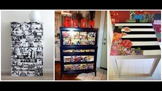 DIY Decoupage Furniture   Mod Podge Ideas