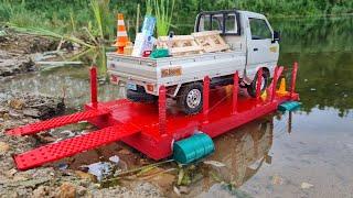 Почти УТОПИЛИ Японский грузовик при перевозке на пароме! RC cars offroad 4x4