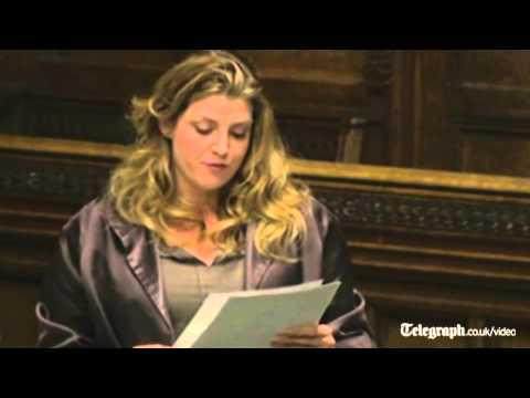 Watch Penny Mordaunt's naughty cock speech to Parliament