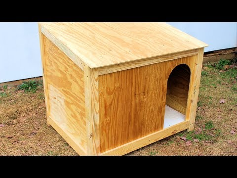 Simple Large Dog House Build DIY