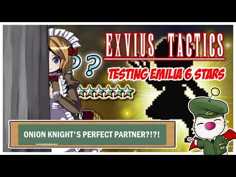 FFBE Global - Testing Emilia 6 Stars - MAID WAIFU - BONUS BATTLE WITH SHERATAN USING HER!!