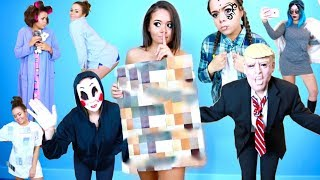 10 RISKY Last-Minute Halloween Costumes! | Krazyrayray