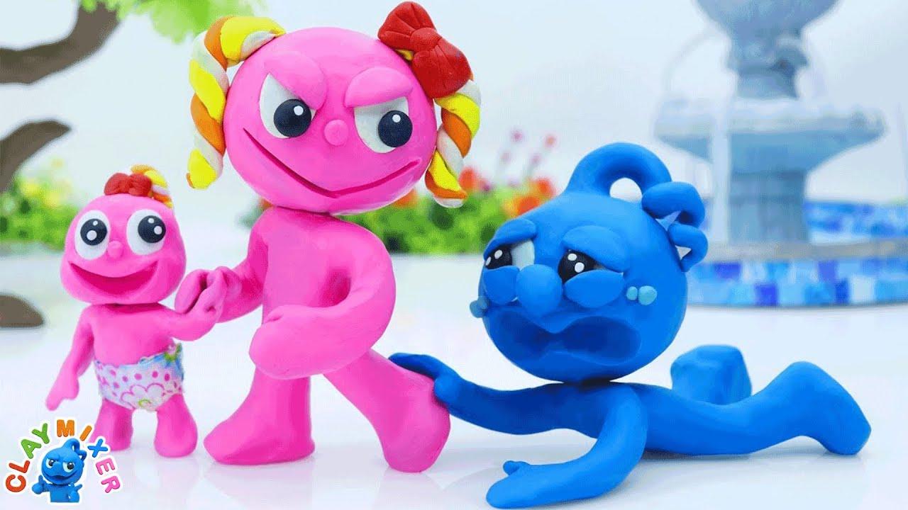Download Clay Mixer Français | Pinky a pris son enfant et a laissé Blue seul | Dessin animé français