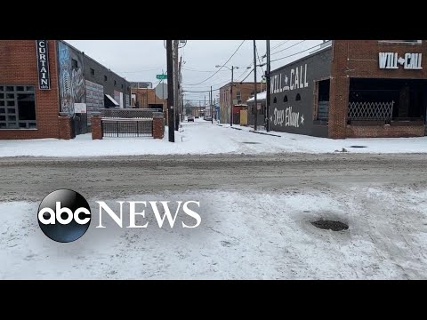 Streets of Dallas covered in snow after winter storm slams Texas