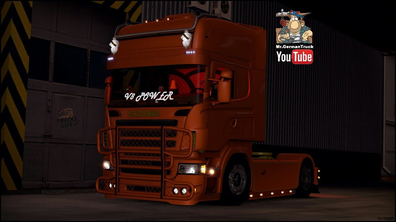 Ets2 V1 23 Scania R730 V8 Sound Youtube