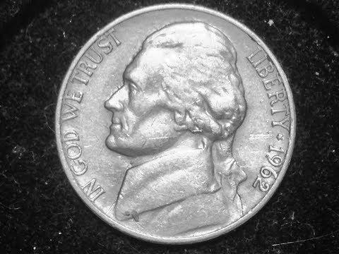 1962 Jefferson Nickel (Mintage 97 Million)