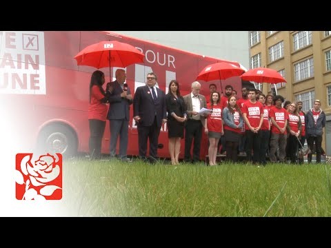 Inside the Labour IN battle bus