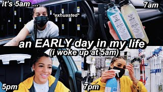 an EARLY 5am Productive Day In My Life | Azlia Williams