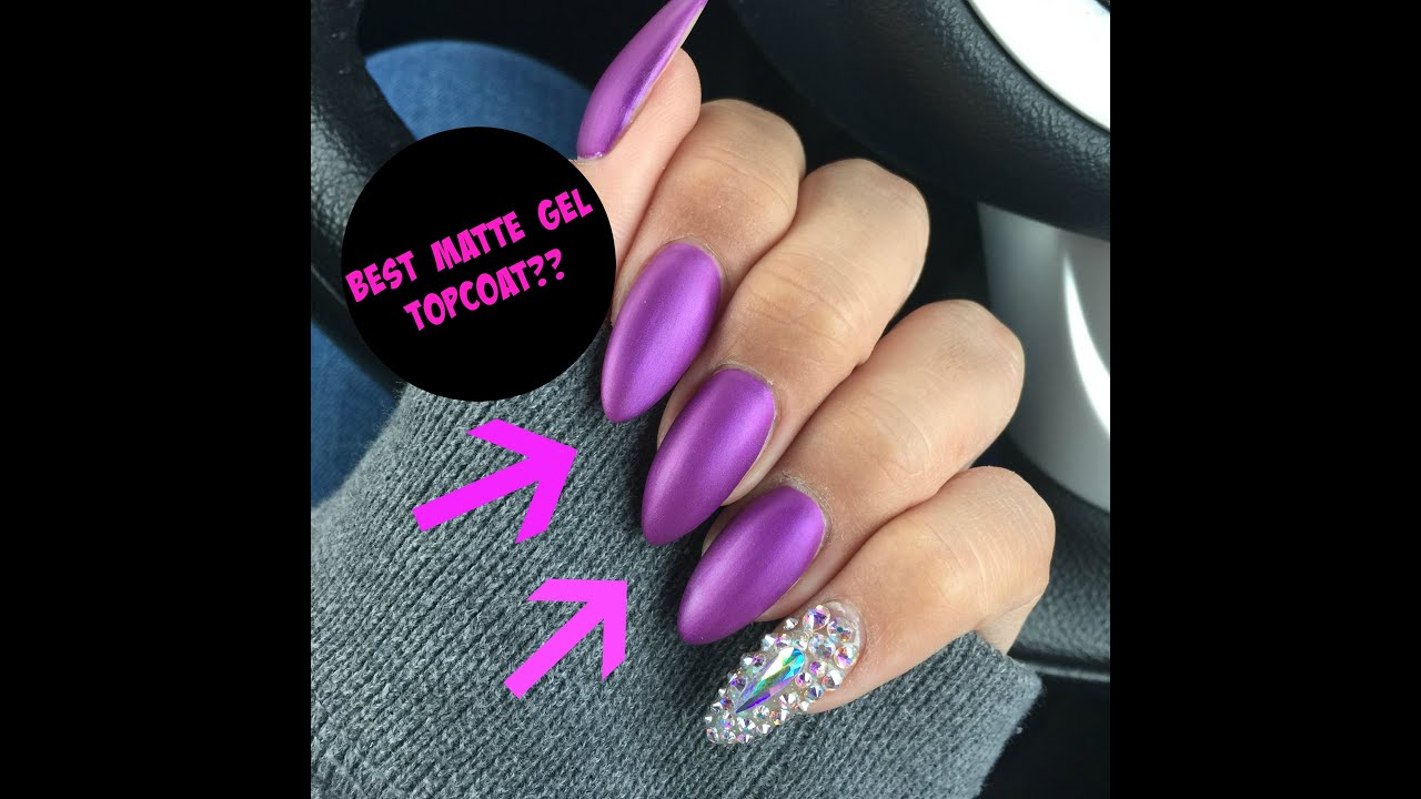 velvet matte purple nails! | best matte gel top coat ever?? - youtube