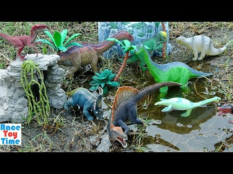 Dino Attack Adventure Predator vs. Prey Compilation Videos! Fun Dinosaurs Toys For Kids