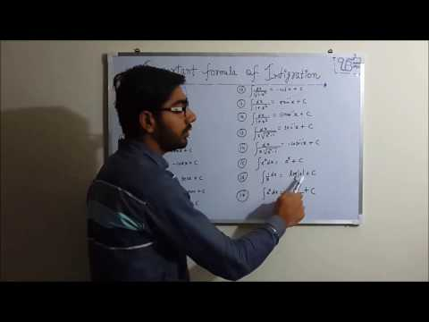 class 12 maths integration formulas very important