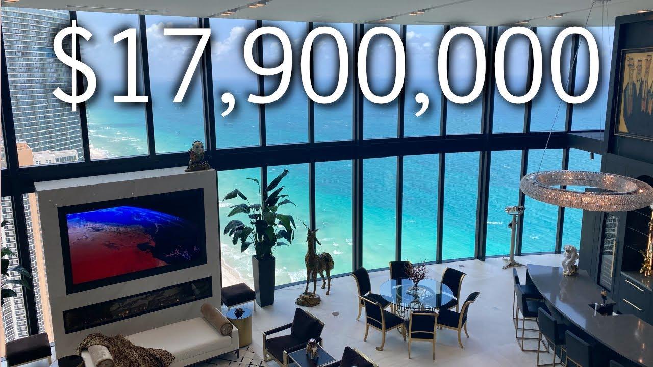 INSIDE A $17,900,000 MEGA CONDO WITH A CAR ELEVATOR! PORSCHE DESIGN TOWER