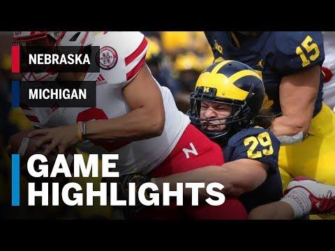 Highlights: Nebraska Cornhuskers vs. Michigan Wolverines | Big Ten Football thumbnail