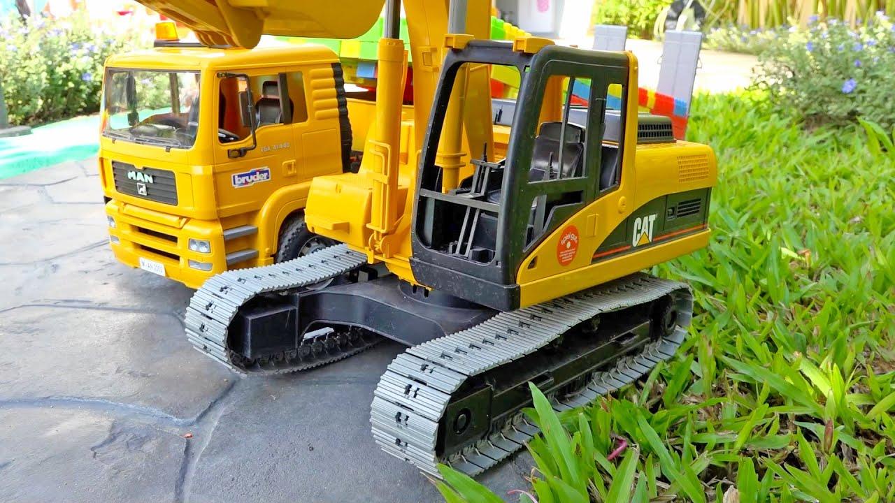 덤프트럭 포크레인 다리 만들기 중장비 트럭놀이 Build Bridge with Excavator Truck Toys