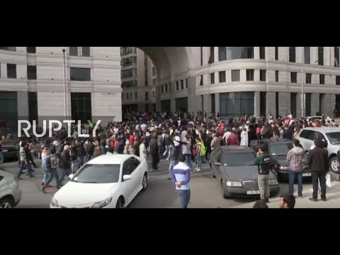 Live: Protesters rally against Armenian PM Sargsyan in Yerev