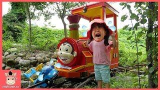 타요 버스 코코몽 에코파크 꾸러기 유니 놀러갔어요 ♡ 어린이 장난감 놀이 놀이공원 워터파크 물놀이 기차놀이 Tayo in real life | 말이야와 아이들 MariAndKids