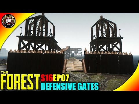 The Forest Gameplay - Defensive Gates, War Party Attacks  - S16EP7 (Alpha V0.34)
