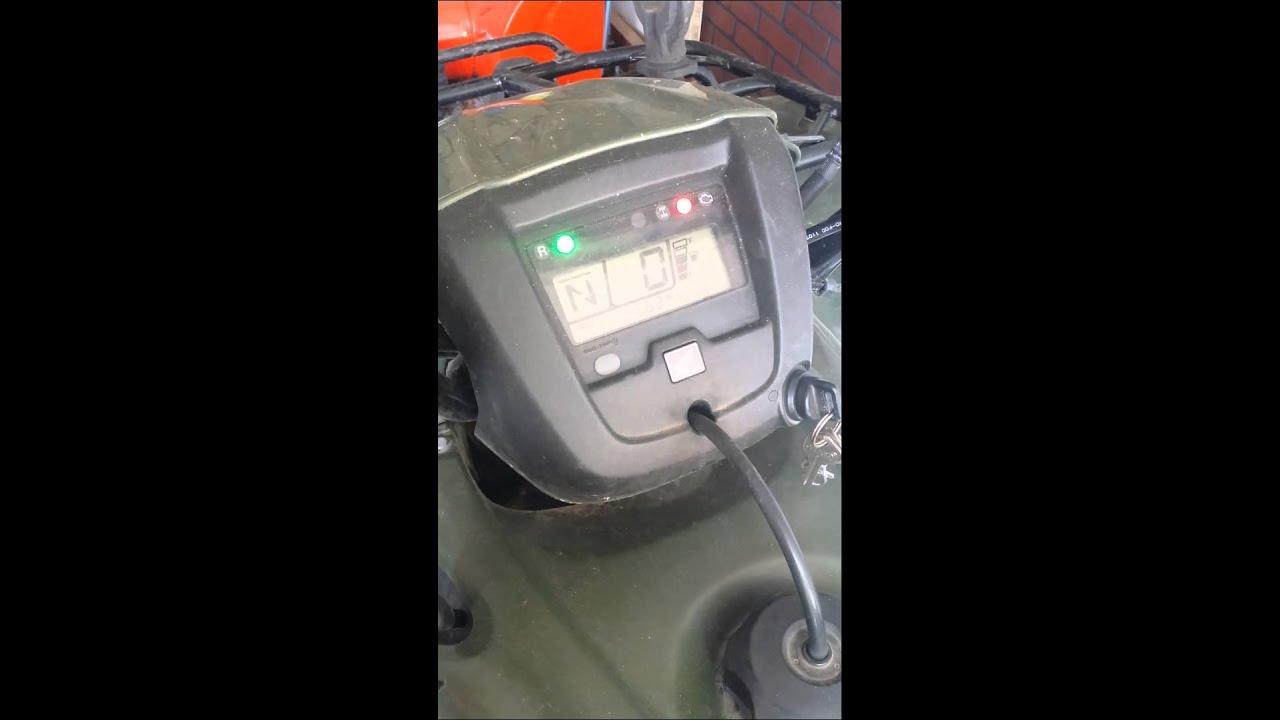 2012 honda foreman check engine light blink part 1 youtube for Blinking check engine light honda