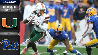 Miami vs. Pittsburgh Condensed Game | ACC Football 2019-20