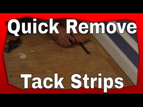 How To Remove Tack Strip You