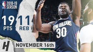 Julius Randle Full Highlights Pelicans vs Knicks 2018.11.16 - 19 Points, 11 Reb