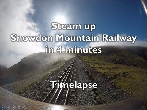 Timelapse: Steam up Snowdon Mountain Railway in 4 minutes