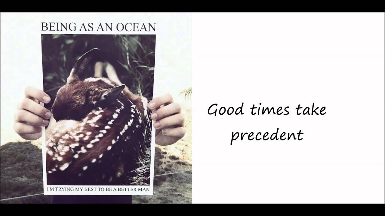 BEING AS AN OCEAN : The Hardest Part... lyrics