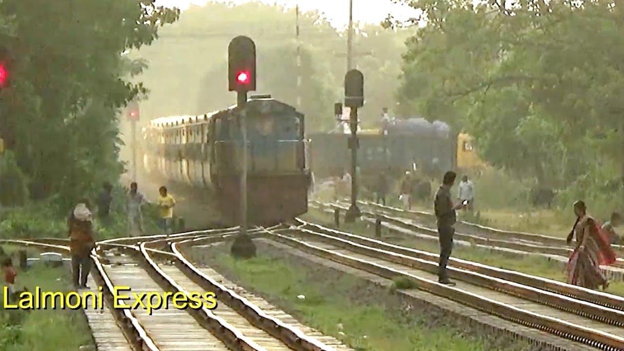 Lalmoni Express With New PT Inka Rake Through Passing Muladuli Station - লালমনি এক্সপ্রেস