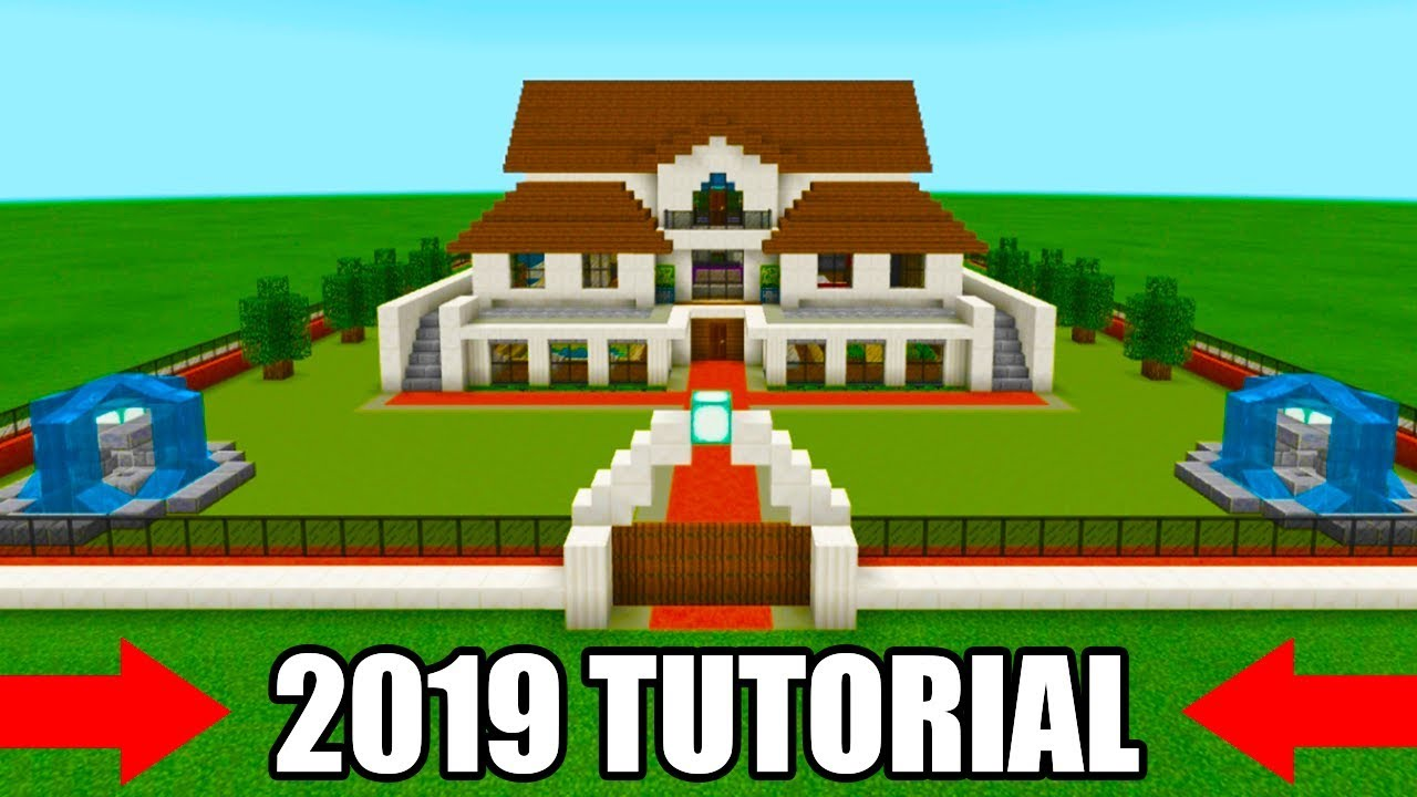 Minecraft Tutorial: How To Make A Mansion 2019 Tutorial ...