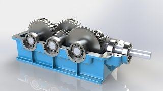 Speed Reducer in Solidworks | PhotoView 360 Render