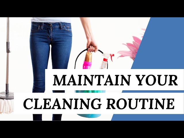 Tips To Help You Maintain Your CLEANING ROUTINE (Cleaning Tips)
