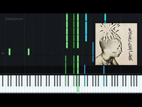 UGLY - XXXTENTACION [Piano Tutorial + Sheet music] thumbnail