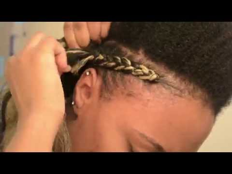 [*62*] NATURAL HAIR | Quick & Easy Cornrows Protective Hairstyle