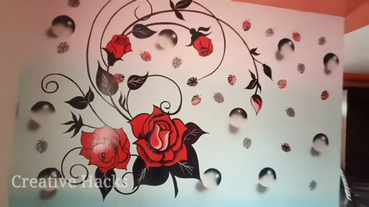 Wall Painting Bubbles Designs Ideas Flowers Fl
