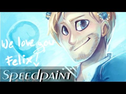 We love you Felix SPEEDPAINT (Pewdiepie) #Pewdiepiedidnothingwrong