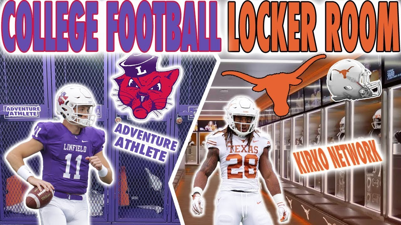 D1 College Football Locker Room VS D3 College Football ...