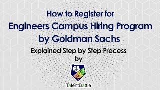 How to Register for Goldman Sachs Engineers Campus Hiring Program for 2020 & 2021 Batch | Off Campus