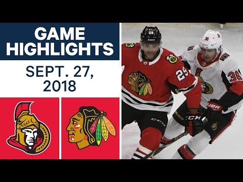 NHL Pre-season Highlights | Senators vs. Blackhawks - Sept. 27, 2018
