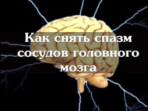 Как снять спазм сосудов головного мозга