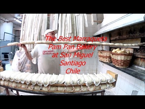 The best Chilean Marraqueta at Pam Pan bakery at San Miguel in Santiago
