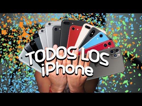 TODOS los IPHONE en un VIDEO  iPhone 1 hasta Iphone 11 PRO MAX