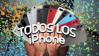 TODOS los IPHONE en un VIDEO - iPhone 1 hasta Iphone 11 PRO MAX